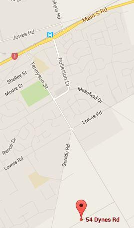 Rolleston map